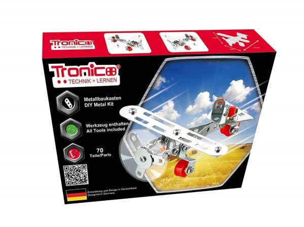 Tronico-Metallbaukasten-Flugzeug-Starter-einsteiger-3d-puzzle-bausatz-10256
