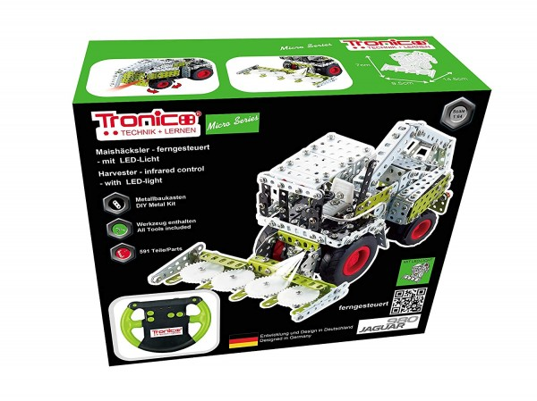 Metallbaukasten-mähdrescher-ferngesteuert-claas-maishäcksler-rctraktor-jaguar-tronico-09511