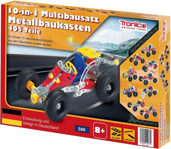 Tronico-Metallbaukasten-10in1-Starter-Einsteiger-Multibaukasten-Multibausatz-Mint-Steam-Schule-Werkunterricht-Bauen-mit-Werkzeug-Konstruktionsspielzeug-Modellbau-rcee-09780A