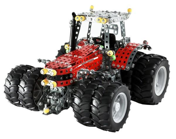 Metallbaukasten-Traktor-Massey-Ferguson-MF-8690-Zwillingsreifen-Tronico-10083