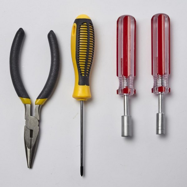 Metallbaukasten-Werkzeug-Montage-Profi-Tronico-10400