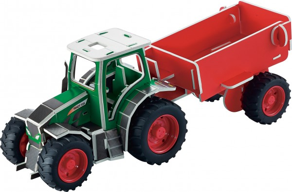 3d-Puzzle-Traktor-Fendt-Anhänger-1:32-Bausatz-Alter-8-jahre-Tronico
