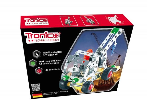 Tronico-Metallbaukasten-Abschleppwagen-Starter-Einsteiger-Abschlepper
