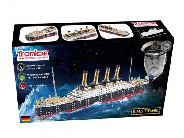 RMS-Titanic-Metallbaukasten-Modellbau-Bausatz-Schiff-Tronico-10127