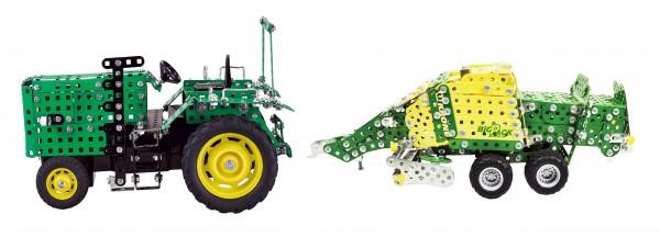 RC-Traktor-mit-Anhänger-und-Fernsteuerung-metallbaukasten-tronico