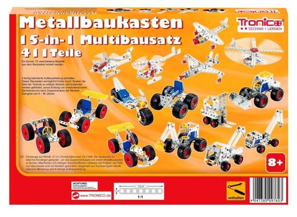 Tronico-Metallbaukasten-Starter-Set-Einsteiger-Multibaukasten-15in1-Mint-Steam-Schule-Werkunterricht-Bauen-mit-Werkzeug-Konstruktionsspielzeug-Modellbau-rcee-09761