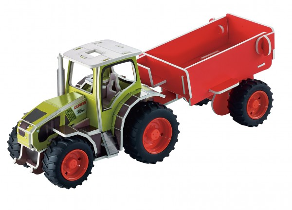 3d-puzzle-bausatz-claas-traktor-anhänger-starter-einsteiger-tronico
