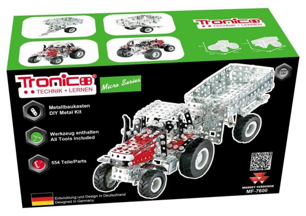metallbaukasten-traktor-massey-ferguson-7600-mf-anhänger-tronico-9540
