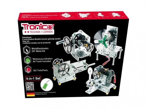 Metallbaukasten-Getriebeset-Akku-Motor-Tronico-10434