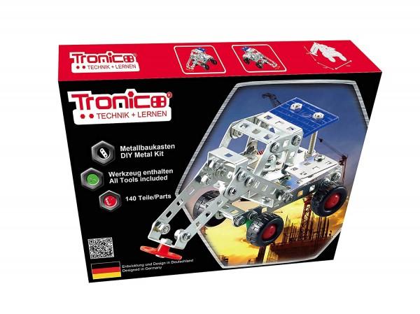 Tronico-Metallbaukasten-Bagger-Baufahrzeug-Bausatz-Starter-Einsteiger-Mint-Schule-10262