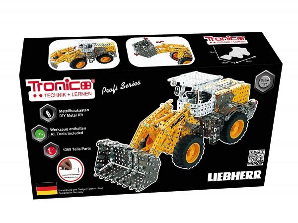 Metallbaukasten-Liebherr-Radlader-1-25-Baufahrzeug-Tronico-10090