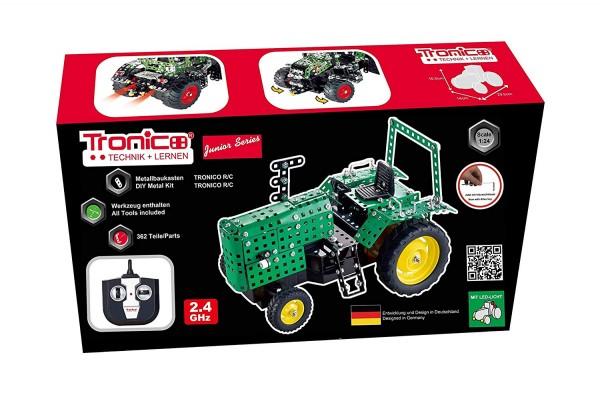 Metallbaukasten-Traktor-2.4-GHZ-ferngesteuert-fernsteuerung-offene-Kabine-Tronico-10088