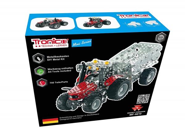 Metallbaukasten-massey-ferguson-mf-5610-agco-Traktor-Anhänger-landwirtschaft-spielzeug-tronico-10031