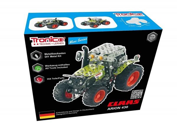 Metallbaukasten-claas-arion-430-Traktor-landwirtschaft-Spielzeug-tronico-10010