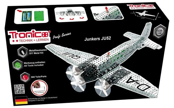 Metallbaukasten-Junkers-ju52-Flugzeug-Bausatz-Tronico-10125