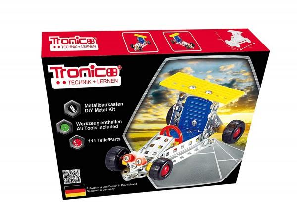 Tronico-Metallbaukasten-Rennwagen-Einsteiger-Bausatz-Schule-Mint-Starter-10264