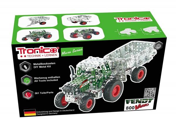 Metallbaukasten-traktor-fendt-800-vario-anhänger-bausatz-tronico-09520