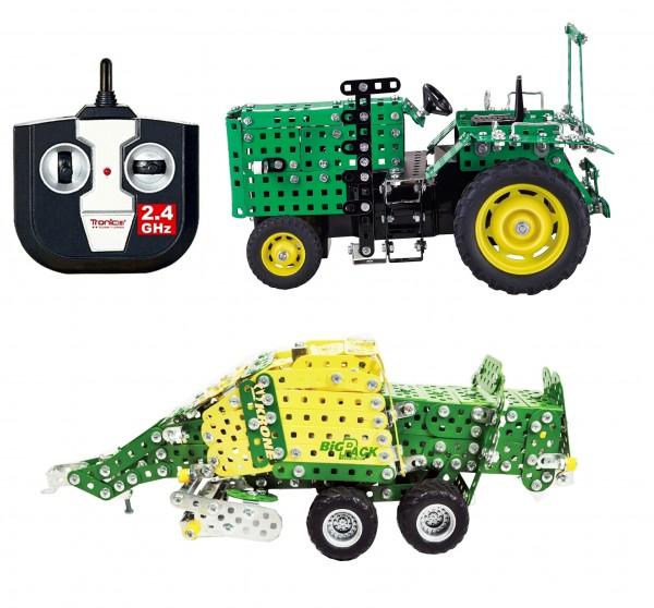 metallbaukasten-tronico-traktor-ferngesteuert-rc-mit-anhänger